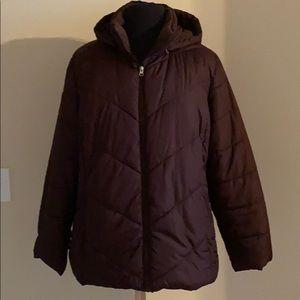 Women's brown puffer coat!